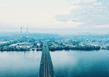 Soluppgång Kiev Arkivfoton
