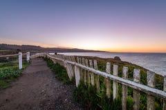 Soluppgång längs den Kalifornien kusten royaltyfri fotografi