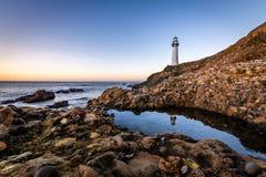 Soluppgång längs den Kalifornien kusten arkivbild
