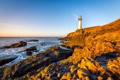 Soluppgång längs den Kalifornien kusten royaltyfri bild