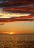 Soluppgång nära freeporten, Bahamas Royaltyfria Foton