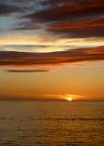 Soluppgång nära freeporten, Bahamas Arkivfoto
