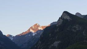 Soluppgång ovanför Aostaet Valley Fotografering för Bildbyråer
