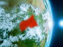 Soluppgång ovanför centrala Afrika på planetjord Royaltyfria Foton