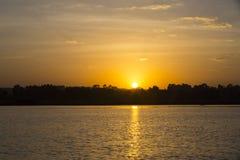 Soluppgång ovanför sjön Tana Royaltyfria Bilder