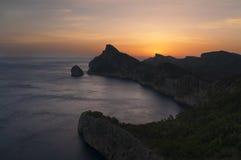 Soluppgång på ön Royaltyfria Foton