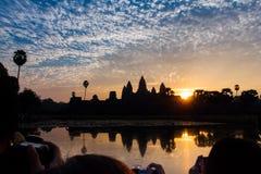 Soluppgång på Angkor Wat Royaltyfri Foto
