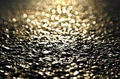 Soluppgång på asfalt Arkivbild