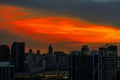 Soluppgång på Bangkok, huvudstad av Thailand Royaltyfri Foto
