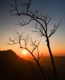 Soluppgång på berg Royaltyfri Foto
