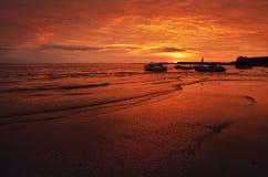 Soluppgång på Blacket Sea Fotografering för Bildbyråer
