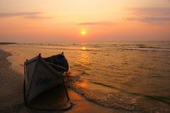 Soluppgång på Blacket Sea Royaltyfri Foto