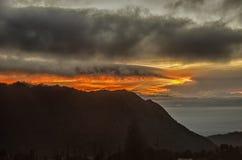 Soluppgång på Bromo kullar Fotografering för Bildbyråer