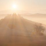 Soluppgång på bygdlandskapet royaltyfri fotografi