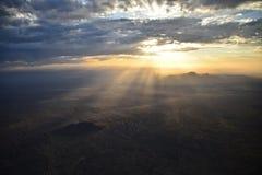 Soluppgång på den östliga Mesa-efterrätten Royaltyfri Fotografi