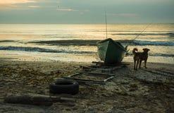 Soluppgång på den Black Sea kusten, Rumänien fotografering för bildbyråer