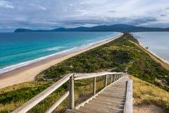 Soluppgång på den Bruny ön, Tasmanien Arkivfoton
