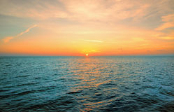 Soluppgång på den karibiska stranden Royaltyfri Fotografi