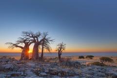 Soluppgång på den Kubu ön Royaltyfri Foto