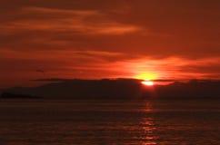 Soluppgång på den Lipe ön Fotografering för Bildbyråer
