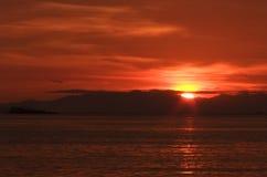 Soluppgång på den Lipe ön Royaltyfri Bild