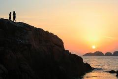 Soluppgång på den Redang ön Royaltyfri Foto