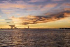 Soluppgång på den Sanibel ön Arkivfoton