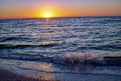 Soluppgång på den Sanibel stranden i Florida Royaltyfri Fotografi