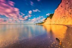 Soluppgång på den Scarborough bluffen Kanada arkivbilder