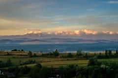 Soluppgång på den Spisz regionen Royaltyfria Foton