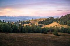Soluppgång på den Spisz regionen Fotografering för Bildbyråer