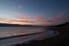 Soluppgång på det döda havet Royaltyfri Fotografi