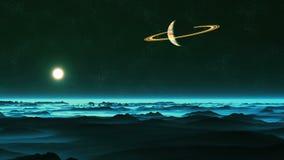 Soluppgång på Enceladus stock video