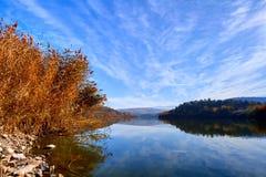 Soluppgång på Eymir sjön, Ankara Turkiet Arkivbilder