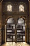 Soluppgång på haremen Alhambra Spanien Arkivfoton