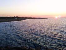 Soluppgång på havet, cavallino, Italien Royaltyfri Fotografi