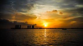 Soluppgång på jakarta Arkivfoto