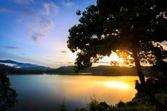 Soluppgång på khaosok Arkivfoto