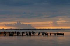 Soluppgång på Merritt Island, Florida Arkivbilder