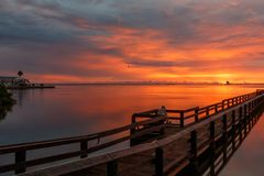 Soluppgång på Merritt Island, Florida Royaltyfri Bild