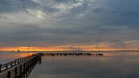 Soluppgång på Merritt Island, Florida Arkivfoto