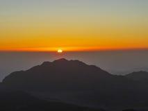 Soluppgång på Mount Sinai Arkivbilder