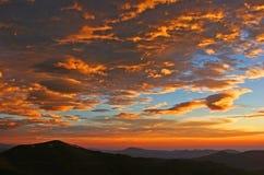 Soluppgång på Mt. Evans i Colorado Fotografering för Bildbyråer