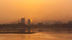 Soluppgång på Mumbai, Indien royaltyfria foton