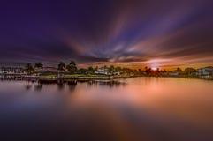 Soluppgång på Naples, Florida royaltyfria bilder