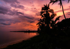 Soluppgång på Oahu Royaltyfri Bild