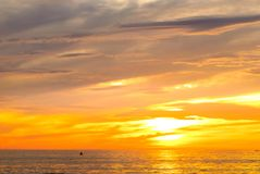 Soluppgång på Pagudpud Royaltyfri Fotografi