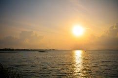 Soluppgång på Pak Phayun Arkivfoto