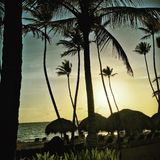 soluppgång på paradis Arkivfoto