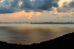 Soluppgång på Pattaya Royaltyfri Fotografi